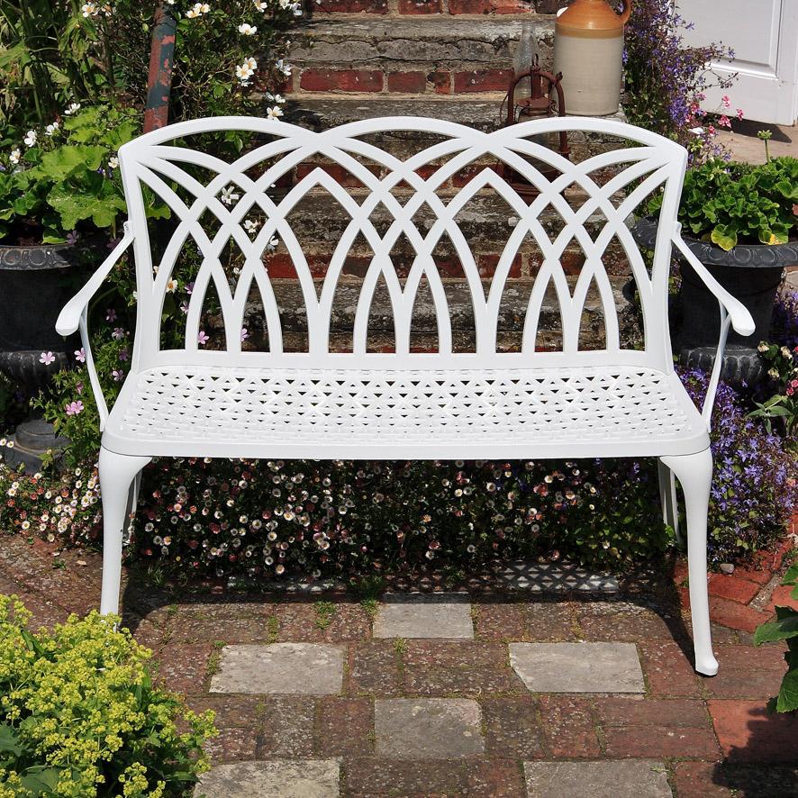 banc fer forge blanc maison design. Black Bedroom Furniture Sets. Home Design Ideas